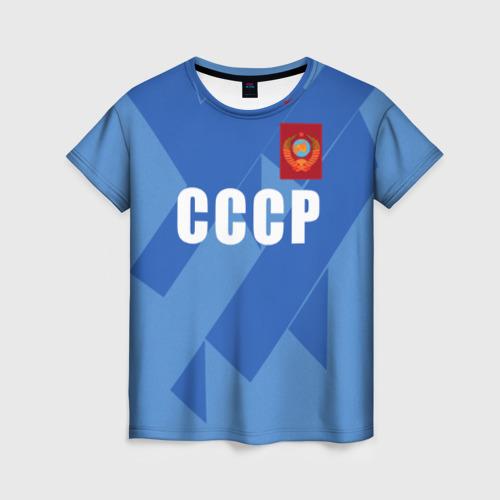 Женская футболка 3D Лев Яшин ретро