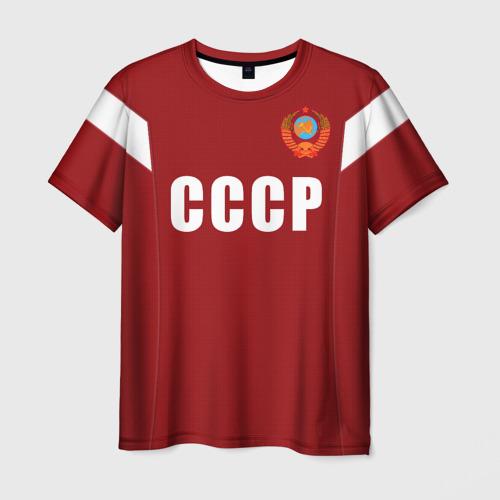 Мужская футболка 3D Лев Яшин ретро 2