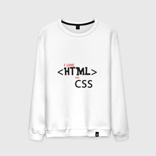 Мужской свитшот хлопок I love html and css