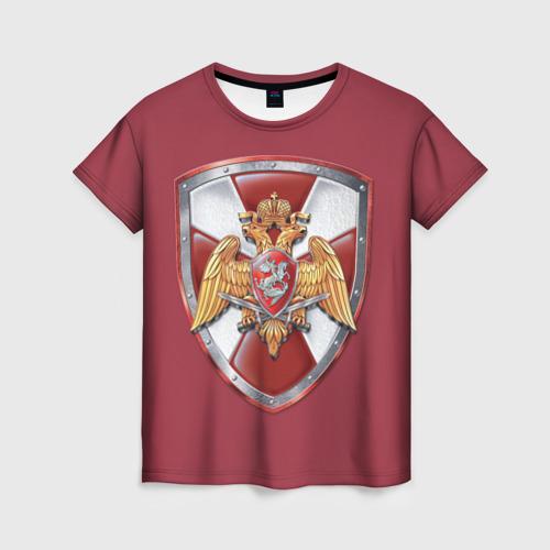 Женская футболка 3D Росгвардия