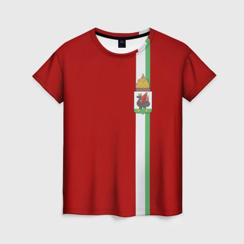 Женская футболка 3D Казань, лента с гербом