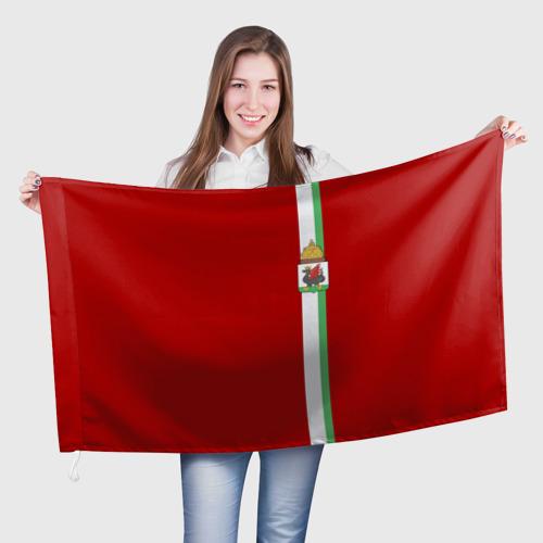 Флаг 3D Казань, лента с гербом