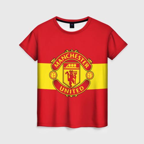 Женская футболка 3D Манчестер Юнайтед ФК