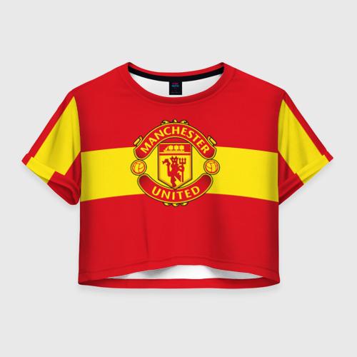 Женская футболка Crop-top 3D Манчестер Юнайтед ФК