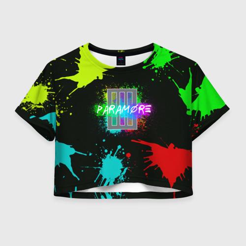 Женская футболка Crop-top 3D Paramore