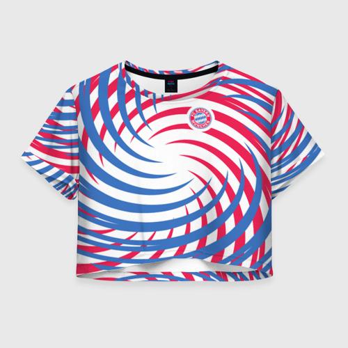Женская футболка Crop-top 3D FC Bayern Munchen