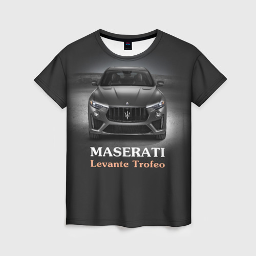 Женская футболка 3D Maserati Levante Trofeo