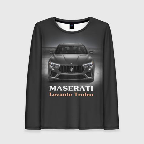 Женский лонгслив 3D Maserati Levante Trofeo