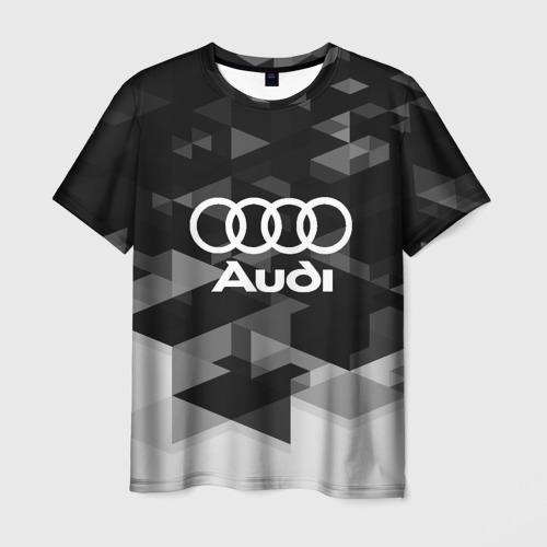 Мужская футболка 3D Audi sport geometry