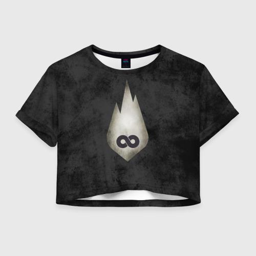 Женская футболка Crop-top 3D Thousand Foot Krutch
