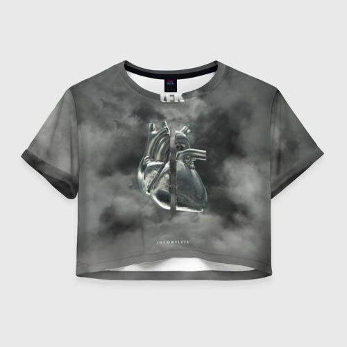 Женская футболка Crop-top 3D TFK  Incomplete