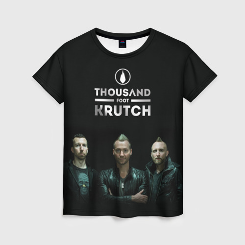 Женская футболка 3D  TFK band