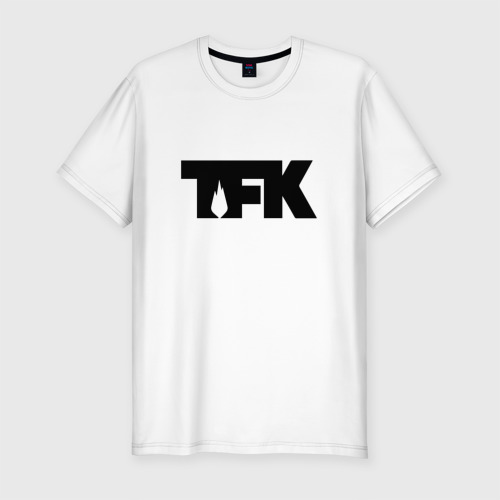 Мужская футболка хлопок Slim TFK logo black