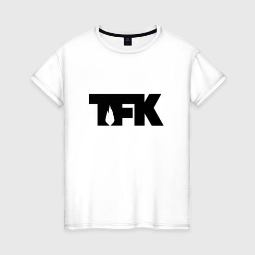 Женская футболка хлопок TFK logo black