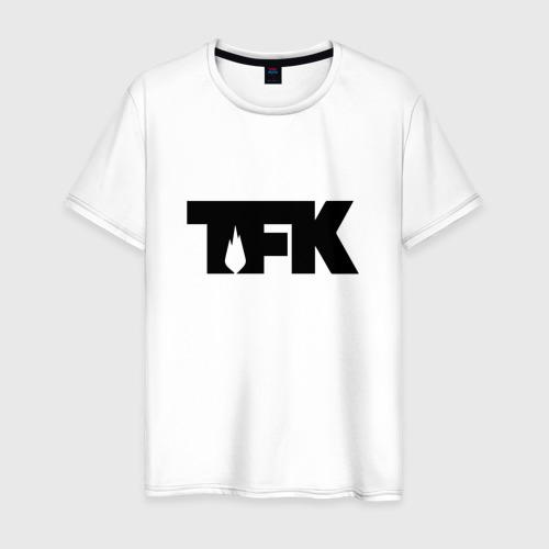 Мужская футболка хлопок TFK logo black