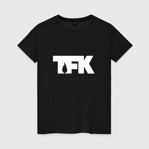 Женская футболка хлопок TFK logo white