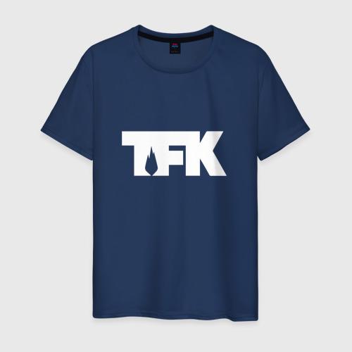 Мужская футболка хлопок TFK logo white
