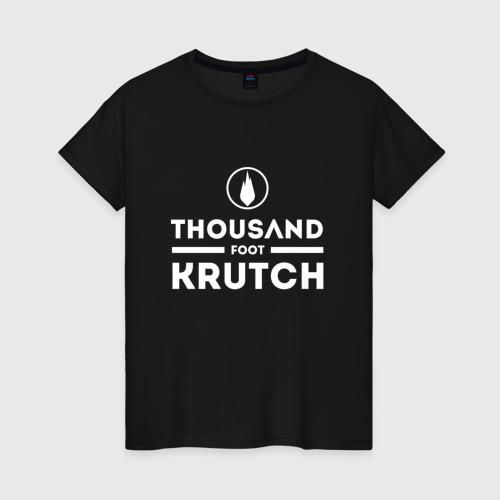 Женская футболка хлопок Thousand Foot Krutch logo
