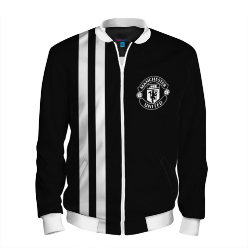 Мужской бомбер 3D Manchester United Black&White