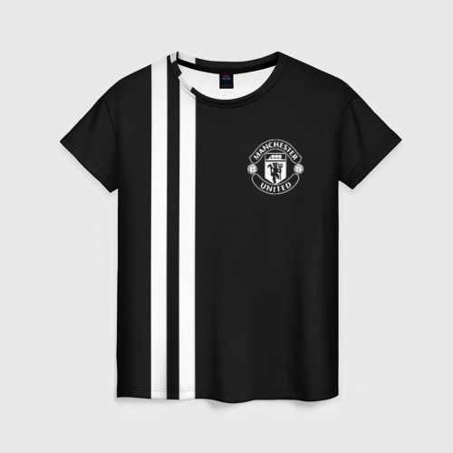 Женская футболка 3D Manchester United Black&White