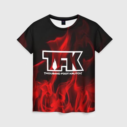 Женская футболка 3D thousand foot krutch