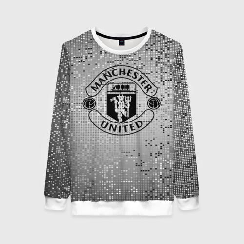 Женский свитшот 3D Манчестер Юнайтед Pixels