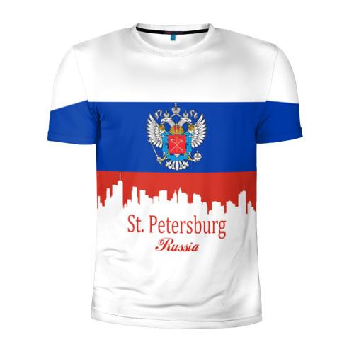 Мужская футболка 3D спортивная Санкт-Петербург