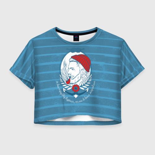 Женская футболка Crop-top 3D Моряк