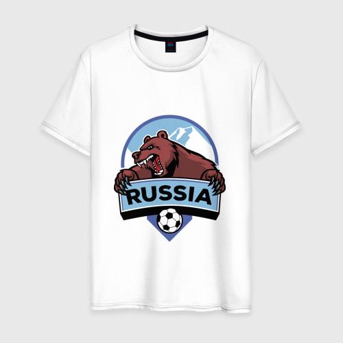 Мужская футболка хлопок Россия Медведь