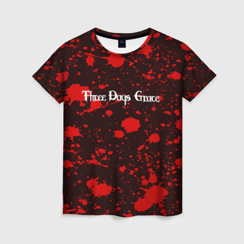 Женская футболка 3D Three Days Grace