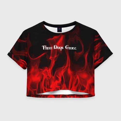Женская футболка Crop-top 3D Three Days Grace