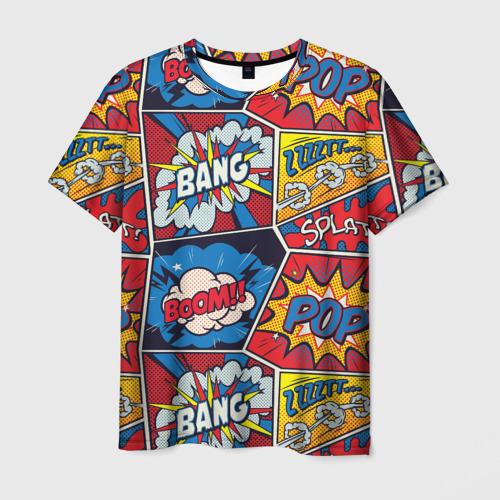 Мужская футболка 3D Pop art pattern