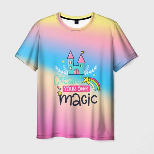 Мужская футболка 3D Create your own magic