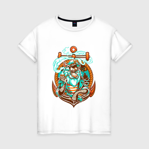 Женская футболка хлопок Пират