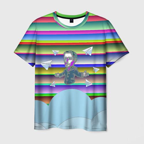 Мужская футболка 3D Telegram
