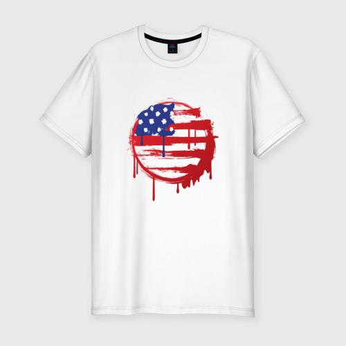 Мужская футболка хлопок Slim Америка
