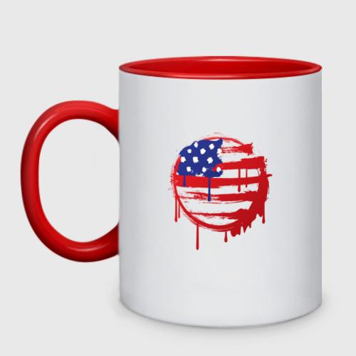 Кружка двухцветная Америка