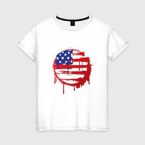 Женская футболка хлопок Америка