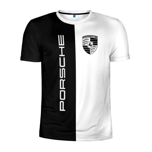 Мужская футболка 3D спортивная Porsche