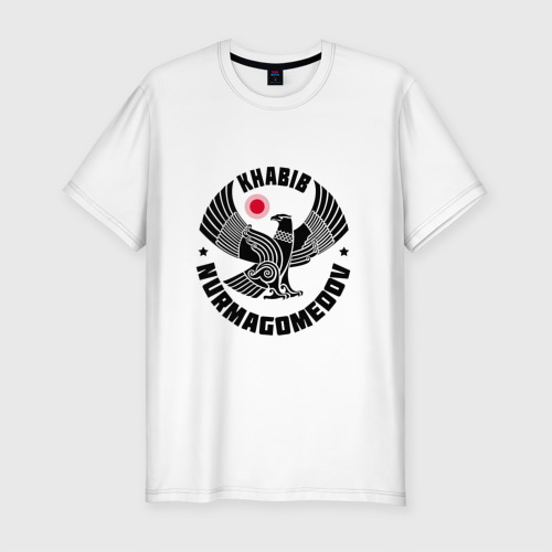 Мужская футболка хлопок Slim Khabib