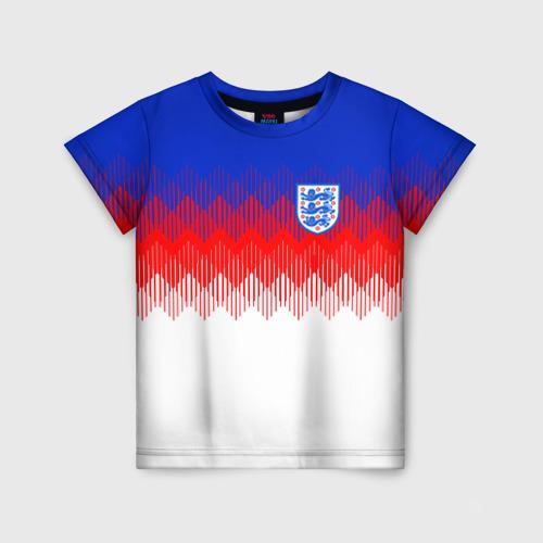 Детская футболка 3D Англия тренировочная форма ЧМ-2018