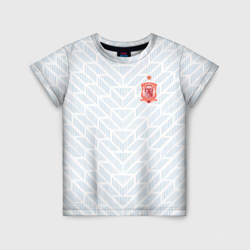 Детская футболка 3D Сборная Испании - гостевая форма - ЧМ 2018