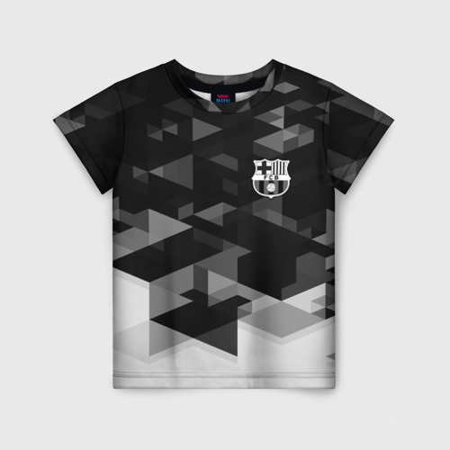 Детская футболка 3D Barcelona Geometry Sport