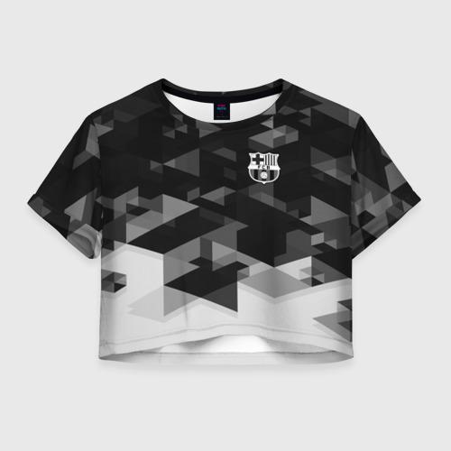Женская футболка Crop-top 3D Barcelona Geometry Sport