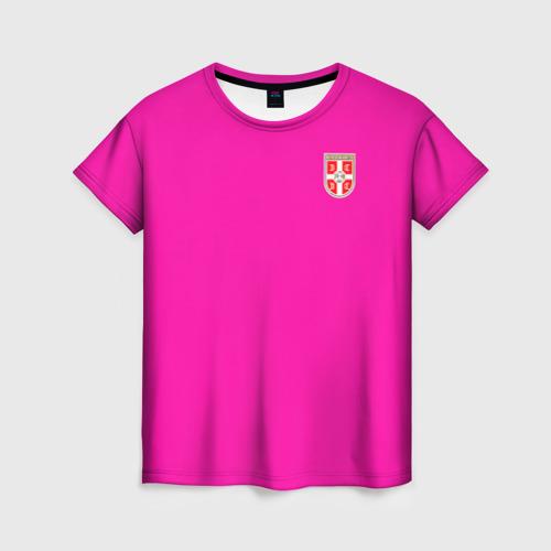 Женская футболка 3D Сборная Сербии WC 2018