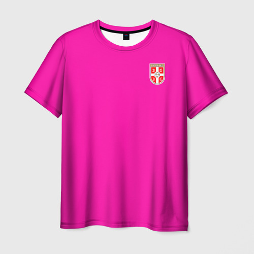 Мужская футболка 3D Сборная Сербии WC 2018