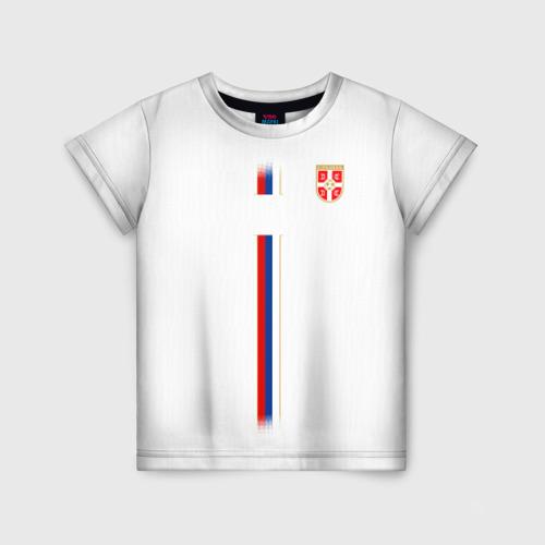 Детская футболка 3D Сборная Сербии WC 2018