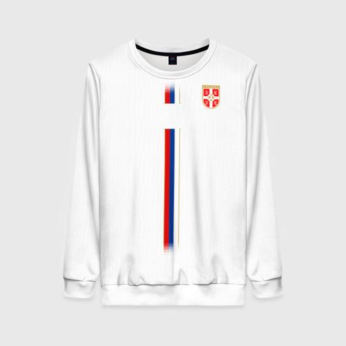 Женский свитшот 3D Сборная Сербии WC 2018
