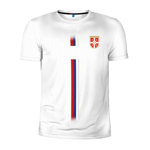 Мужская футболка 3D спортивная Сборная Сербии WC 2018