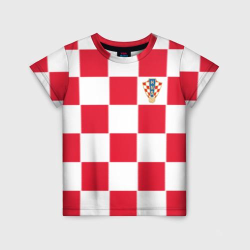 Детская футболка 3D Хорватия домашняя форма 2018